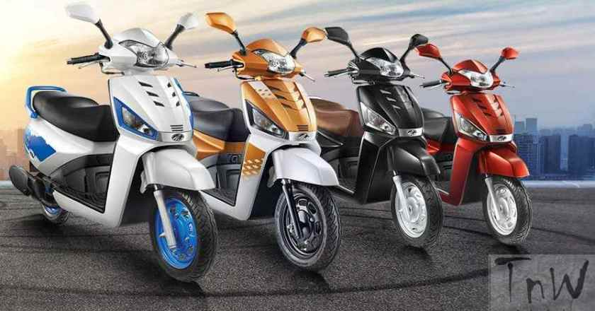 Mahindra unveils Gusto 125. Bigger engine and new colours