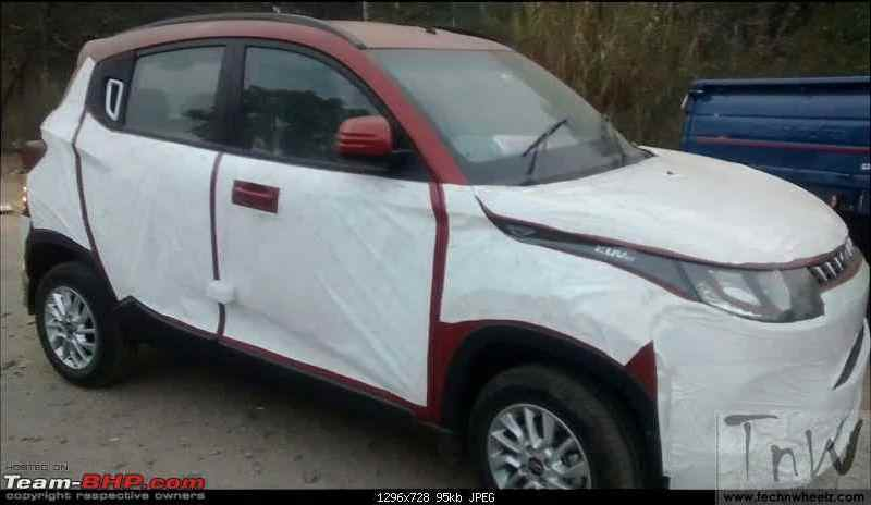 Mahindra KUV100 spied again. Details inside