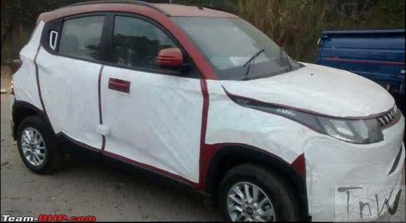 Mahindra KUV100 spied again. Details inside