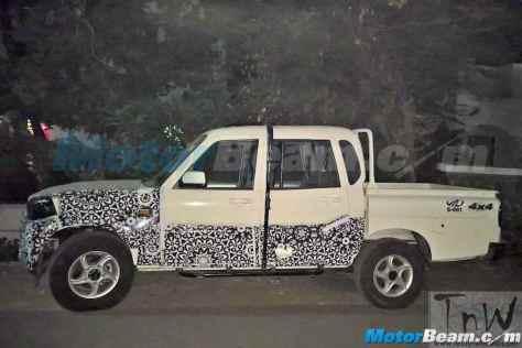 Mahindra Scorpio Pik-Up / Getaway facelift spy pic