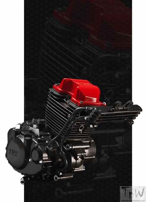 TVS Apache RTR 200 4V engine