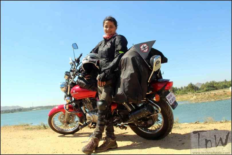 Esha Gupta with her Avenger