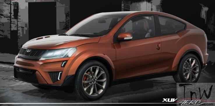 Mahindra XUV Aero- coupe inspired four-door crossover