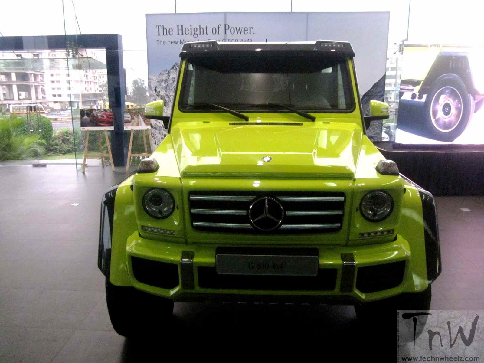 Mercedes benz g500 4 4 squared detailed in images for Mercedes benz g wagon squared