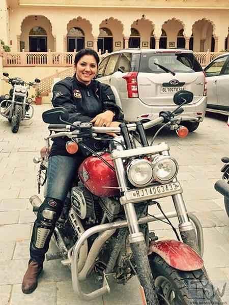 Veenu Paliwal bike