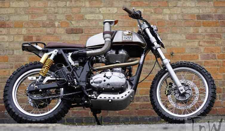 Image Gallery: Royal Enfield Dirty Duck, Continental GT based off road machine
