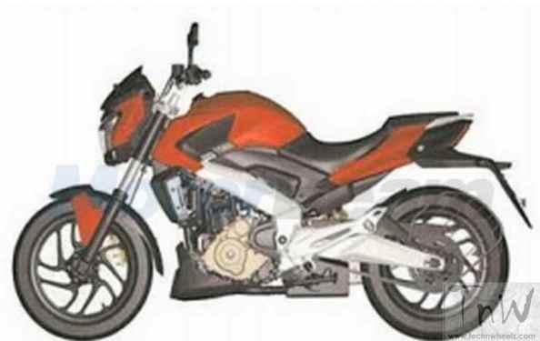 Patent design of Bajaj Pulsar CS400 leaks online