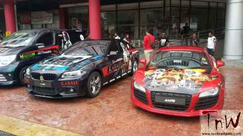 Kabali wrap on Audi and BMW cars in Malaysia for promotion Credits to respective owners