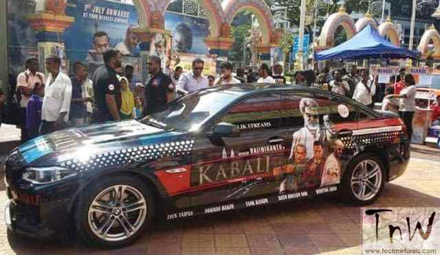 Kabali wrap on BMW in Malaysia for promotion Credits to respective owners