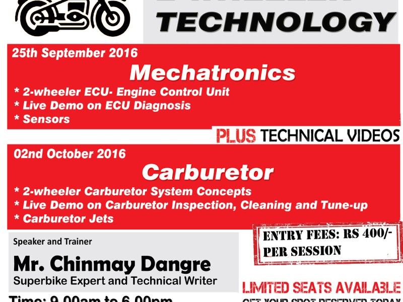 Seminar and Workshop on 2-Wheeler Technology , Pune