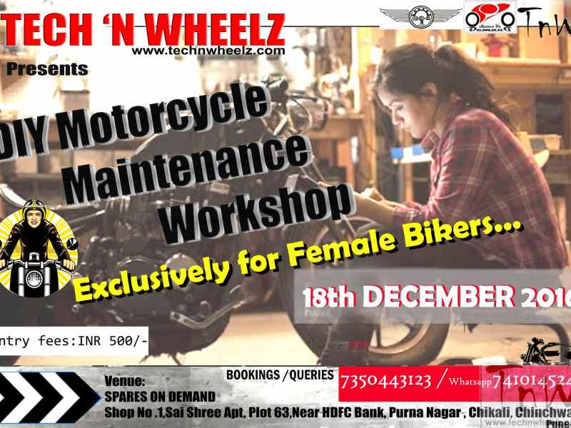 Female Bikers Xclusive DIY Motorcycle Workshop