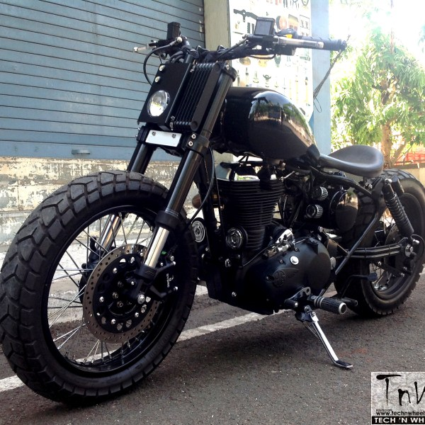 Balwaan- RE Classic 500 based bobber by Westland Customs (India)