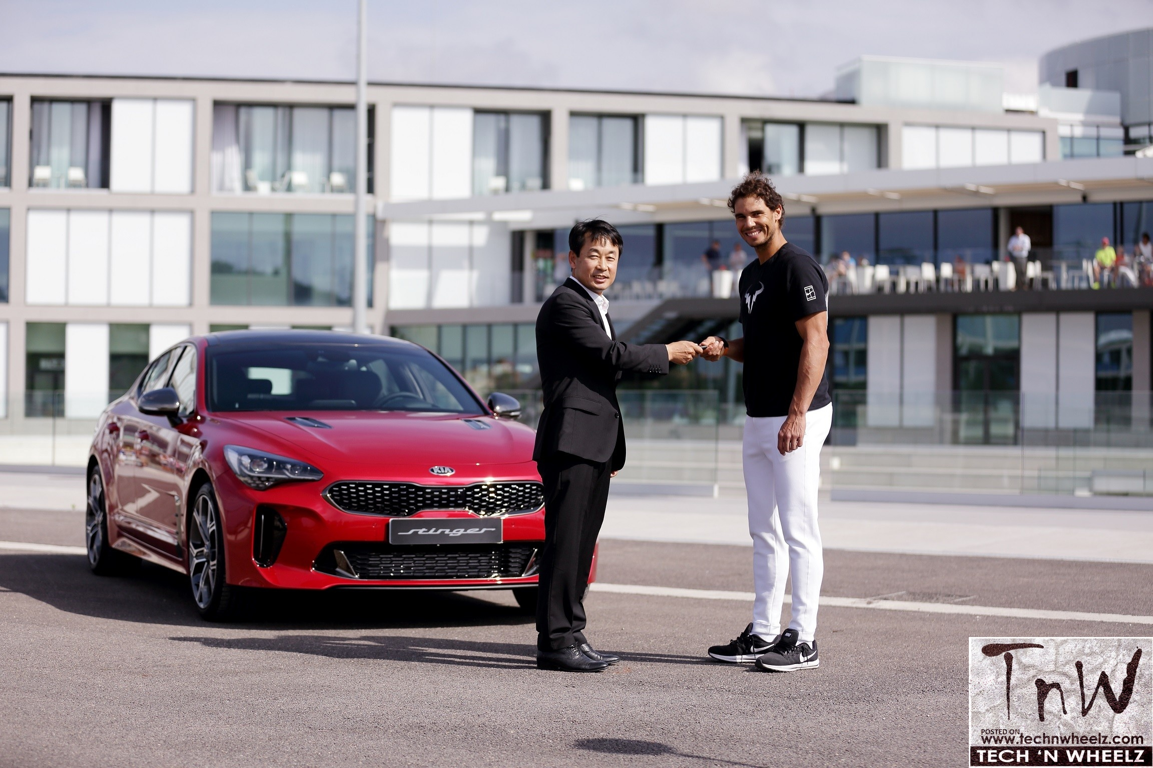 Kia Gifts The Stinger To Rafael Nadal The World S Number One Tennis Player Tnw