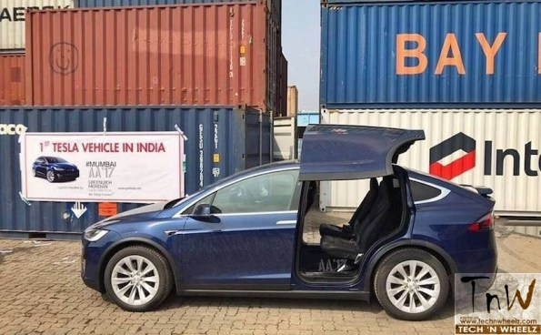 First Tesla lands in India – the Model X SUV
