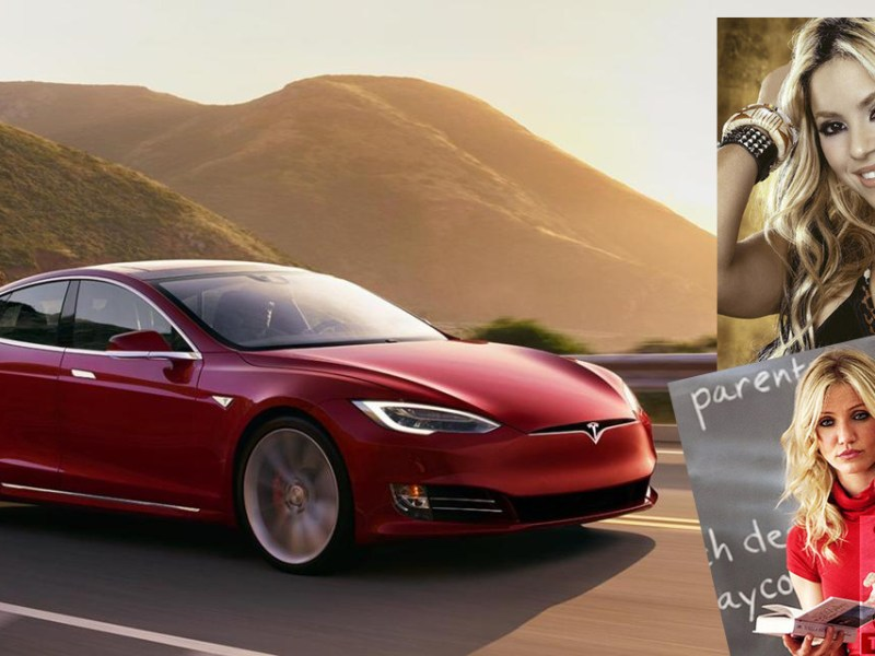 Women celebrities who drive the Tesla