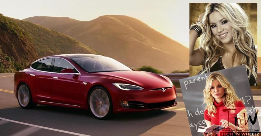 Women celebrities who drive the Tesla