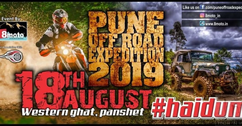 8Moto Events back with Pune Off-Road Expedition 2019 on Aug 18th