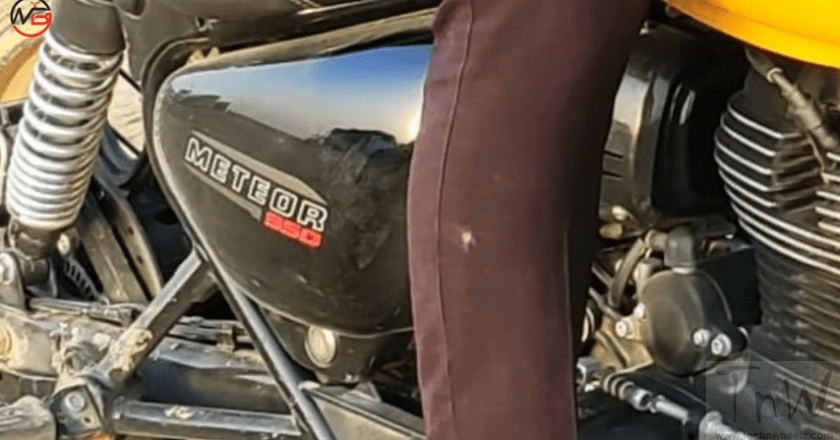 Royal Enfield Meteor 350  spied during TVC shoot