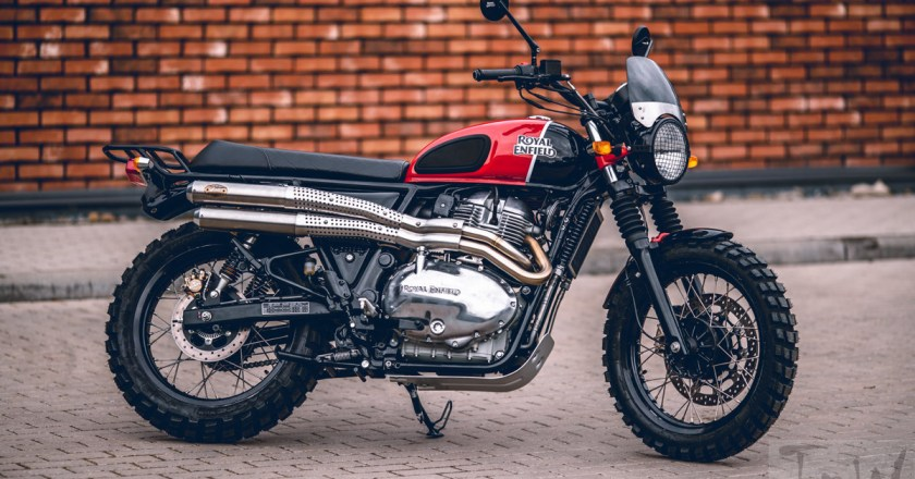 Royal Enfield Interceptor MCH scrambler. Limited to 10 units