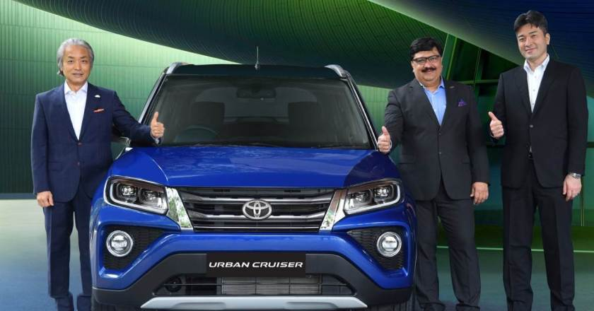 Toyota Urban Cruiser launched in India. Comes in 3 variants with MT & AT options