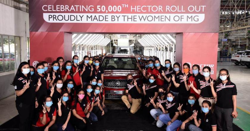 All-women crew rolls out 50,000th MG Hector