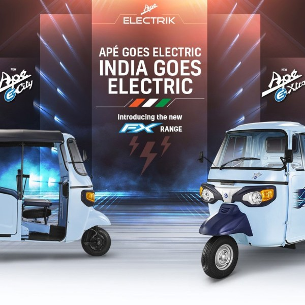 Piaggio launches Ape Electrik FX e-rickshaw and e-Xtra FX cargo