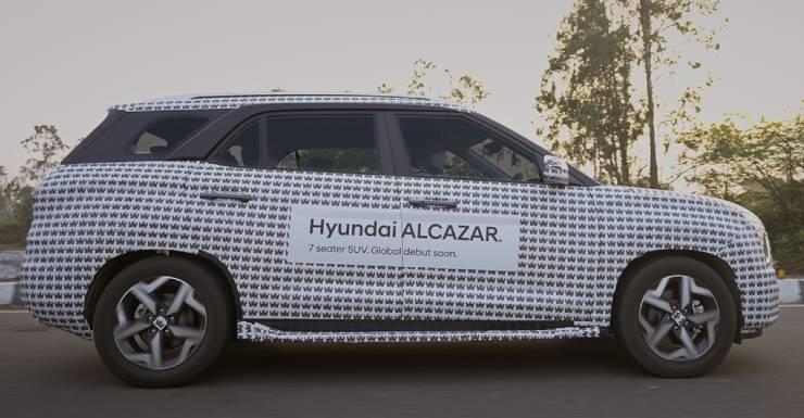 Hyundai Alcazar 7 seat SUV's test runs concludes. Launch soon