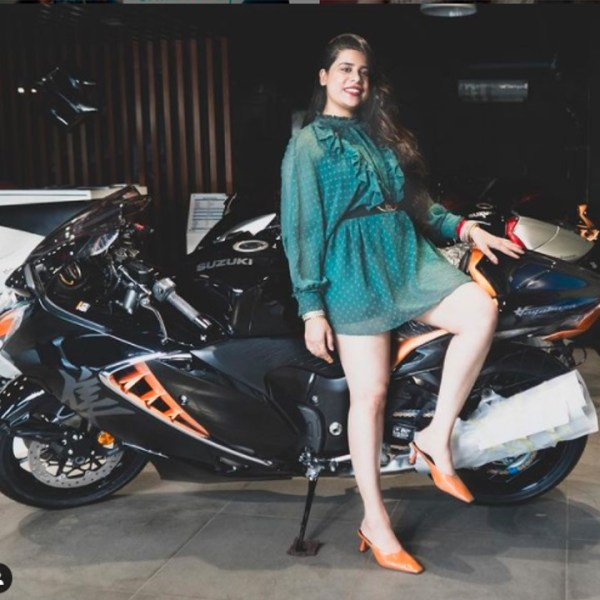 Ankita Khanna -the first female owner of the 2021 Hayabusa in India
