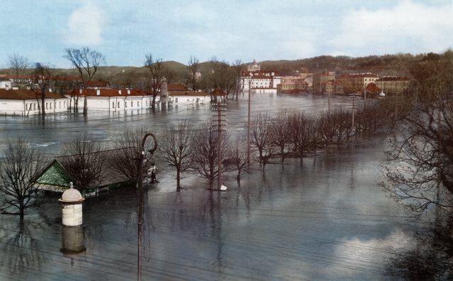 Didysis Vilniaus potvynis, 1931 metai. Šaltinis: simtmeciospalvos.lt, LLMA F.273 ap.1 b.11 l.52