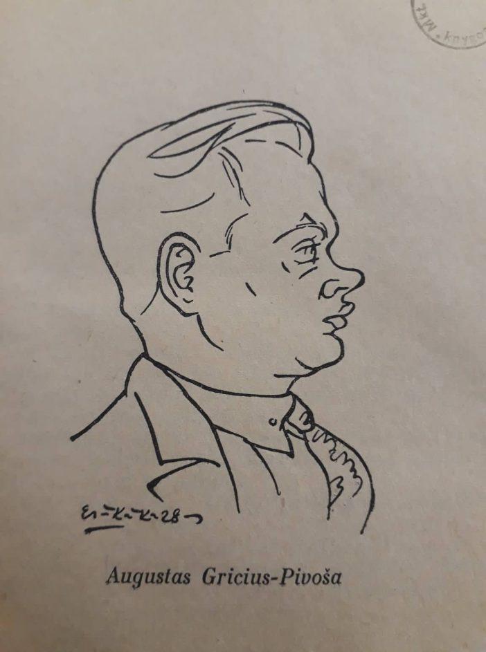 Augustinas Gricius, šaržas 1928 - autoriaus nuotr.