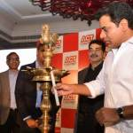 Telangana IT minister K. T Rama Rao formally launched the ACTGiga - the One GBPS internet connection services in Hyderabad. (Photo/Twitter)