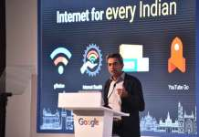 """""""The most important aspect of making the web more useful and meaningful for all of India is to make India's Internet more representative of the India we live in,"""" said Rajan Anandan, VP, India & South East Asia, Google. (Photo/Google India)"""