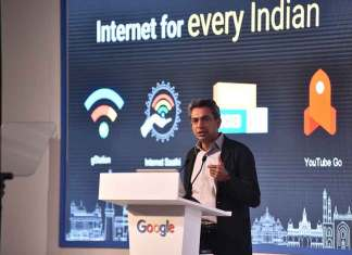"""The most important aspect of making the web more useful and meaningful for all of India is to make India's Internet more representative of the India we live in,"" said Rajan Anandan, VP, India & South East Asia, Google. (Photo/Google India)"