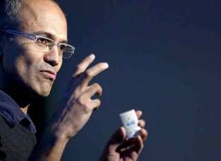 Microsoft is not only building IT solutions solely to support conspicuous consumption, it is also working to make a positive impact in the world, said Microsoft CEO Satya Nadella (Photo/Agency)