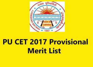 The Panjab University has released the department-wise PU CET 2017 Provisional Merit List (Web Image)