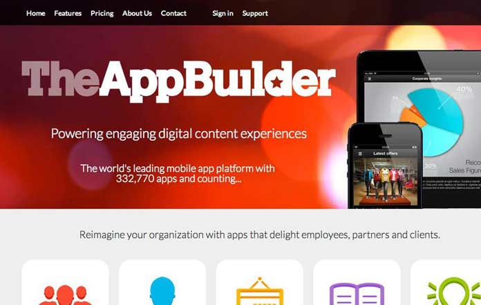 TheAppBuilder provides a suite of apps to suit employees, clients, events and brochures, with two different approaches available.