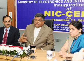 NIC-CERT, National Informatics Centre, Technology, Cybersecurity, Cyberattack, e-Governance, e-Gov, eGov, ICT in government, NIC, Ravi Shankar Prasad, Digital India