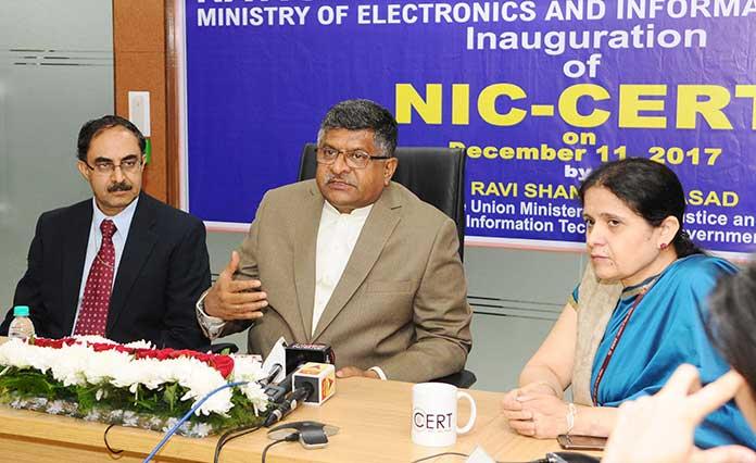 NIC-CERT, National Informatics Centre, Technology, Cybersecurity, Cyberattack, e-Governance, e-Gov, eGov, ICT in government, NIC, Ravi Shankar Prasad, Digital India