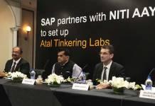 SAP, Niti Ayog, Atal Tinkering Labs, Bernd Leukert, Amitabh Kant