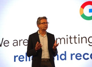 Rajan Anandan, VP, India and Southeast Asia, speaking at the Google for India 2018 event. (Photo: Google)
