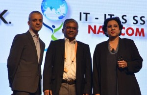 (L-R) Pradeep Nair, MD, Autodesk, India, DBATU Vice Chancellor Dr. V. G. Gaikar and Dr Sandhya Chintala, ED, ITes Sector Skill Council, NASSCOM