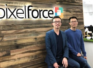 Hinney Lo, PixelForce Managing Director (left) with Technical Director and business partner Ben Zhang.(Photo: The Lead/Andrew Spence)