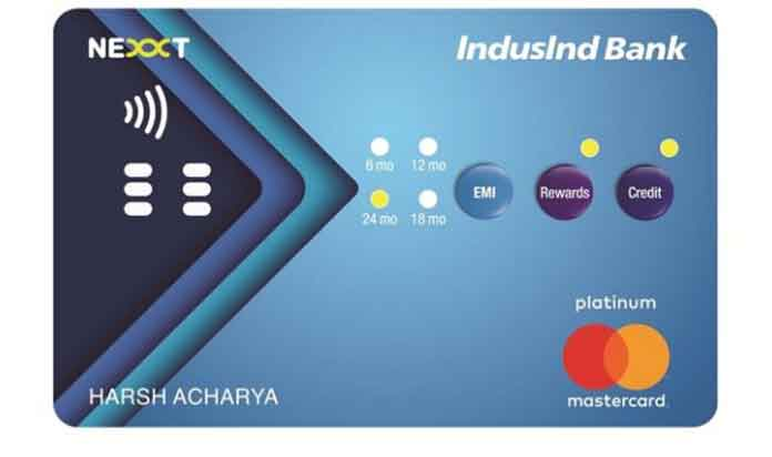 IndusInd Bank has launched the IndusInd Bank Nexxt Credit Card, an interactive Credit Card in India with buttons. (Photo: Agency)