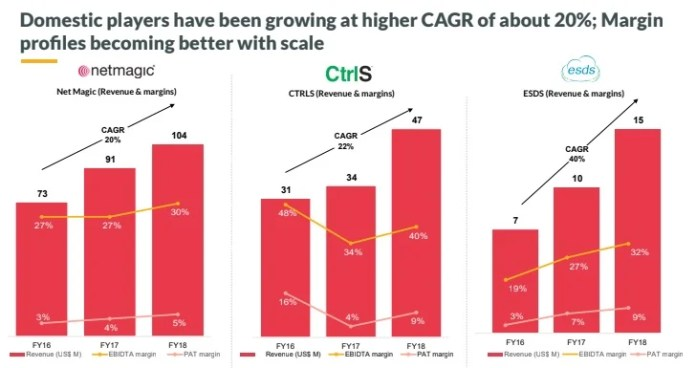 Domestic players are witnessing a CAGR growth of about 20%.