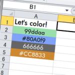 セルをカラーコードで着色する