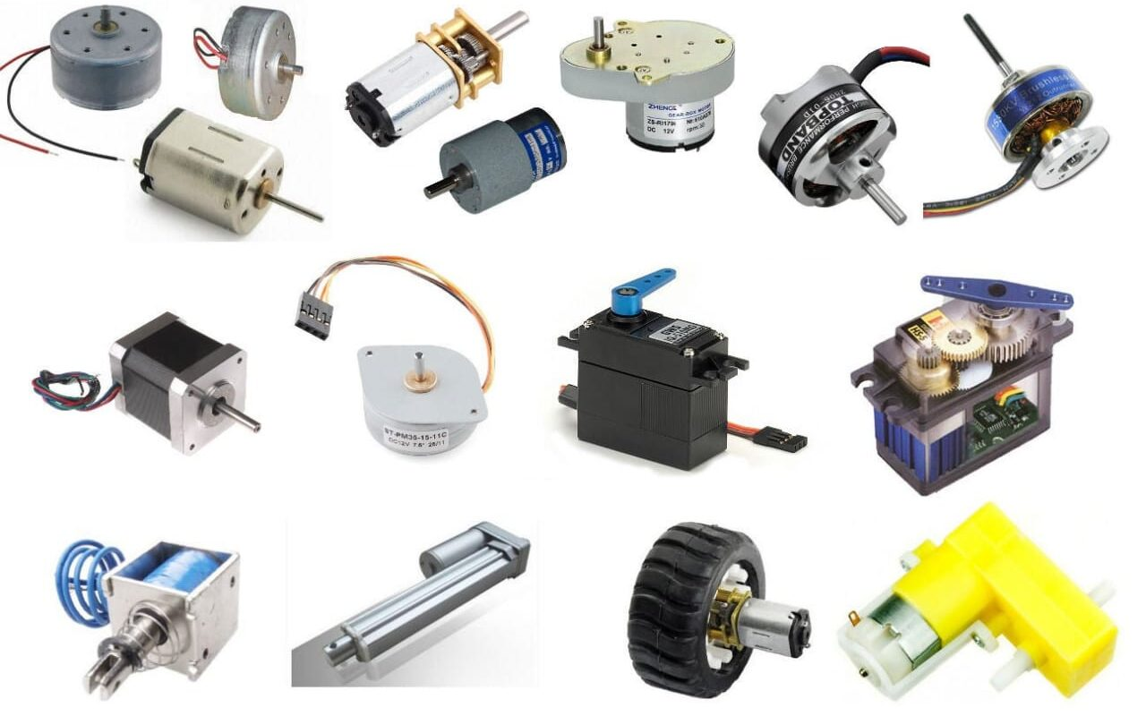 Types of motors used in robots