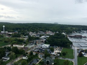 View of Put-In-Bay from the Perry Memorial observation deck.