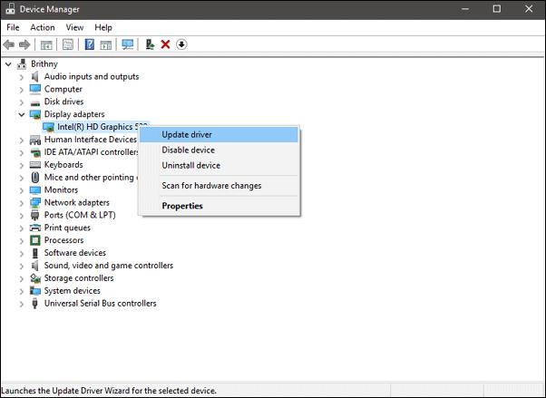 Fix Code 43 in Windows 10 - update driver