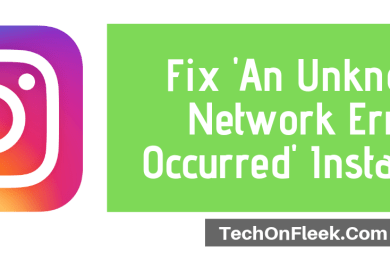 instagram unknown network error