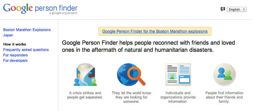 google s person finder launched moments after boston explosions